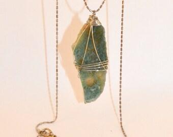 Aventurine gemstone and chain