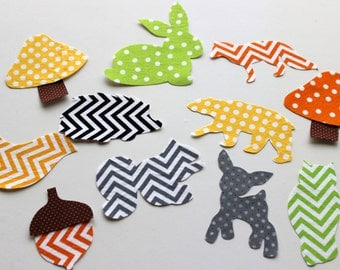 11 Iron On Appliques Woodland Creatures, Forest animals, Baby Shower Activity, Baby Shower Appliques, Iron on Woodland Animals
