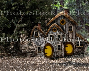 fairy house backdrop gnome house fantasy backdrop forest background tree stump house