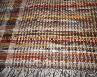 Woven Fabric Throw Rug
