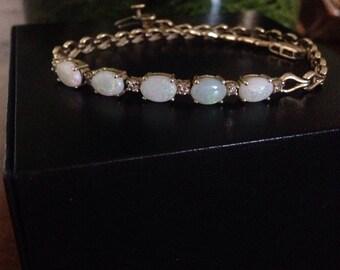 14k and fire opal bracelet