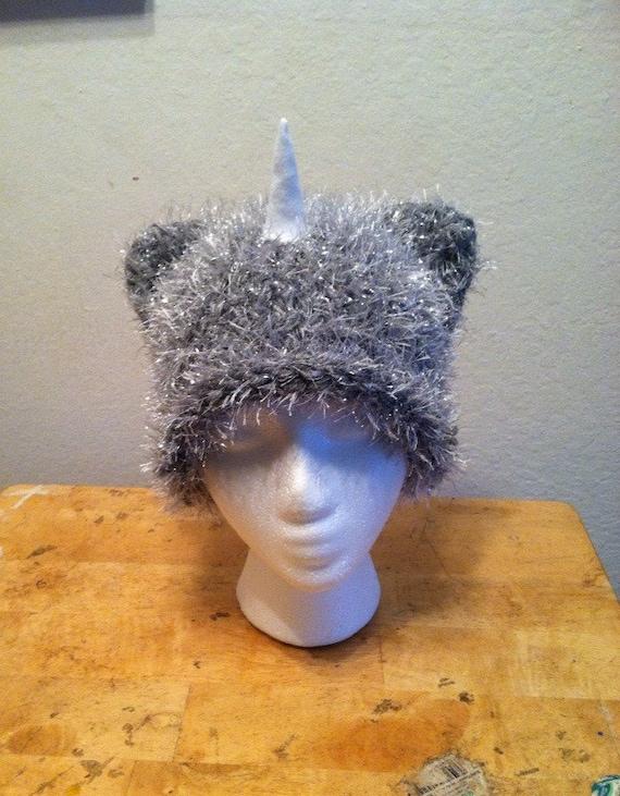 Knitting Pattern Unicorn Hat : Knit Unicorn Hat by HandmadeHillShop on Etsy
