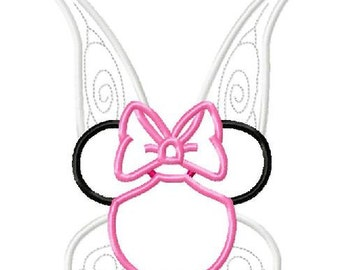 Character Inspired Pixie Rosetta Fairy Embroidery Applique Design