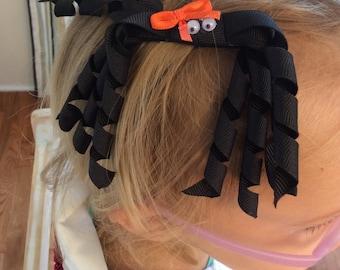 Korker spider hair bow clip