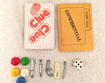 Vintage Clue Game Replacement Pieces