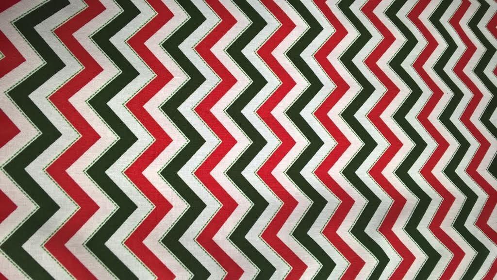 Riley Blake Medium Chevron Christmas - Discount Designer Fabric ...