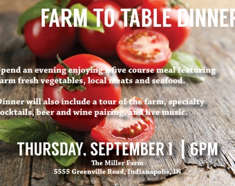 Rustic & Simple Farm to Table Invitation