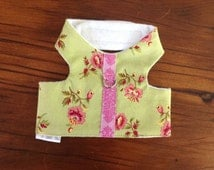 Small Pet Harness in Pinks and Green