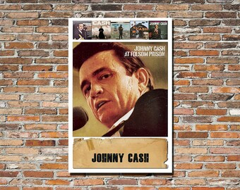 JOHNNY CASH, Johnny Cash 12x18 Print, Johnny Cash Album Art, Johnny Cash Print, Johnny Cash Poster, Instagram, Country Music, Nashville