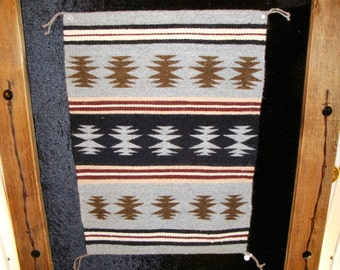 """Handcrafted Navajo Weaving, Chinle Design, 16"""" W x 22"""" H"""