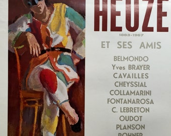 Poster for the exhibition Edmond Heuzé