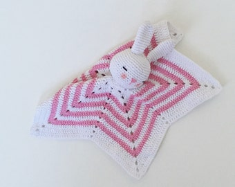 Security blanket, security blanket, baby blanket, amigurumi bunny