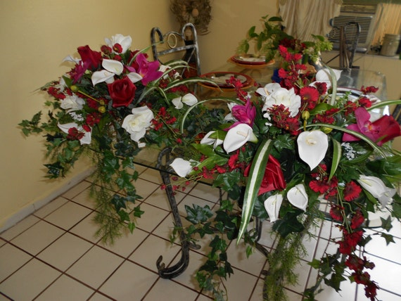 Wedding altar and bridal table centerpieces decorations 2 pieces