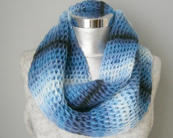 Knit cowl scarf chunky knit cowl cowl scarf mens scarf gift ideas for her circle scarf, chunky scarf FAST DELIVERY