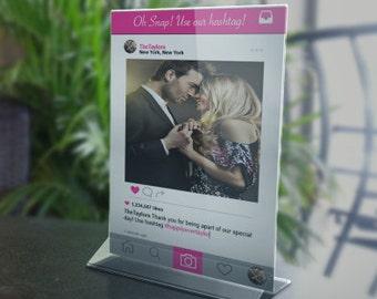 Instagram Sign- wedding Sign -instant download-PDF file