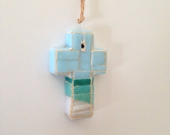 Gulf Coast Mosaic Wall Cross or Christmas Ornament II