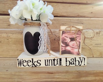 Baby Countdown,Pregnancy Reveal,Countdown to Baby Blocks,Unique Baby Shower Gift,Mom to be ,Pregnancy Reveal,Baby Shower Gifts,Chalkboard