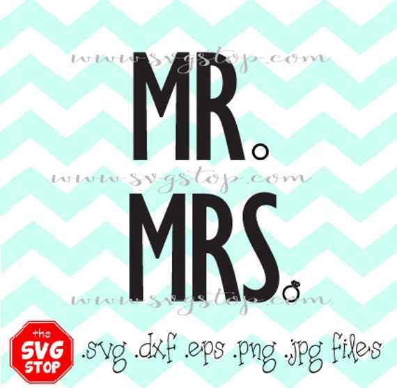 Mr And Mrs Wedding Ring Svg Files For Cricut Silhouette