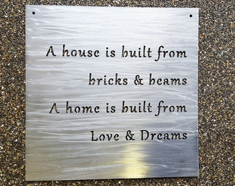 custom metal sign your own quote or words personalized metal wall decor - Metal Signs Home Decor