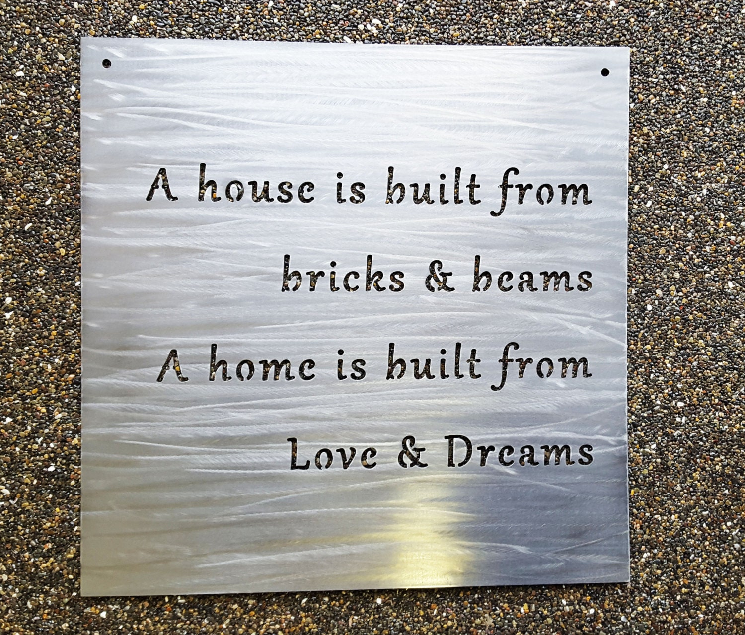 Custom 18 metal sign your own quote or words zoom amipublicfo Gallery