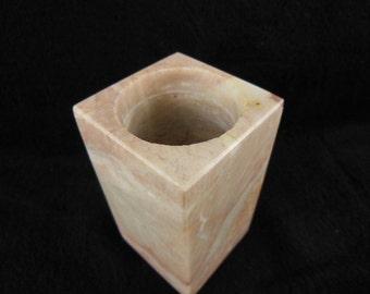 Vintage Marble Vase / Pencil Holder