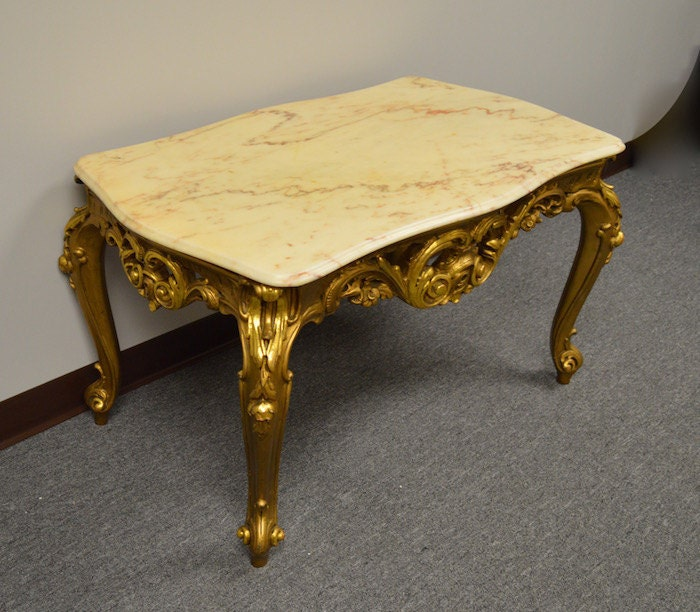 Nail Marble Top Coffee Table