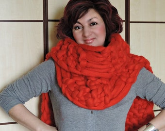 Oversized scarf, Knitted scarf, Oversized knit scarf, Knit scarf, Chunky scarf, Wool Scarf, Scarf, Oversized Scarfs, Scarfs, Merino Scarf