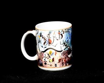 Cafe Arts Mug, Artist Series Mug, Coffee Mug, Art Mug, B. Wild Mino Mug, Art Deco Mug, Painter Mug, Surrealist Mug