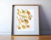 Alveoli Watercolor Art Print - Pulmonary Painting - Lung Painting - Abstract Anatomy Art