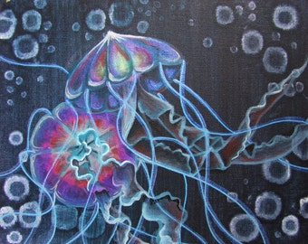 Bright Blue Jellyfish