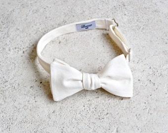 Ivory Wedding Bow Tie