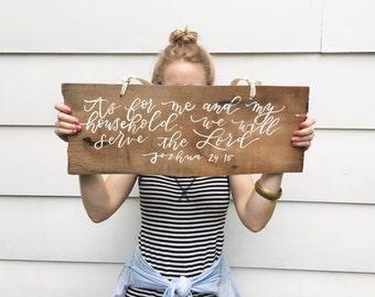 Custom Handwritten Calligraphy on Rustic Cedar Shingle