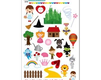Wizard of Oz Stickers - Disney Planner Stickers