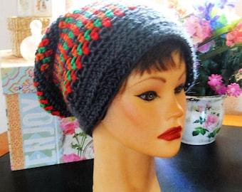 Handmade, crocheted Slouch Hat
