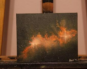 """8""""x10"""" Orange Cluster Nebula 2015"""