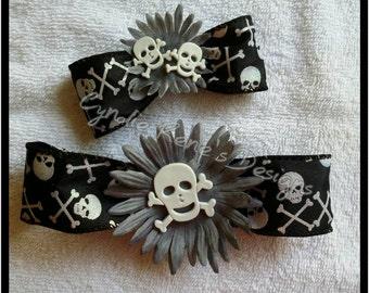 Skeleton hair bows