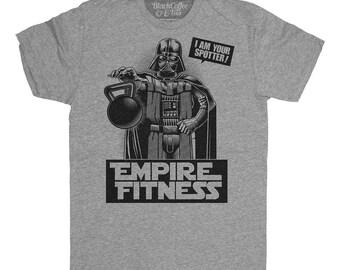 Darth Vader Shirt -  Star Wars Shirt - Mens Empire Fitness Gym Shirt Hand Screen Printed on a Mens T-shirt