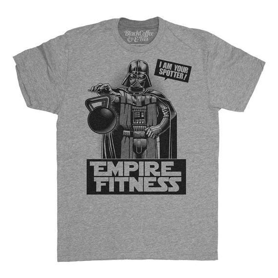 Darth vader shirt star wars shirt mens empire fitness gym for Gym printed t shirts