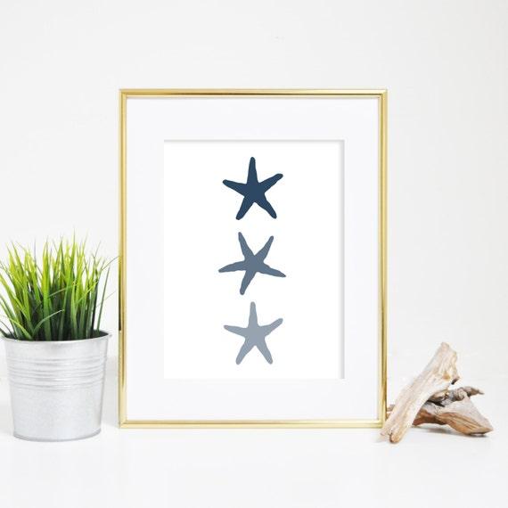 Art Print, Starfish Print, Digital Print, Starfish Wall Art, Beach Decor, Nursery Print, Wall Decor, Instant Download, Printable Art