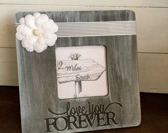 Frame, Wood Frame, Picture Frame, Wedding Gift, Anniversary GIft, Nursery Room, Child's Room, Valentine Gift, Love you Forever Frame