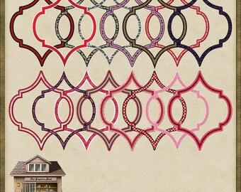 16 Ornate Shape Frames PNG *Instant Download*