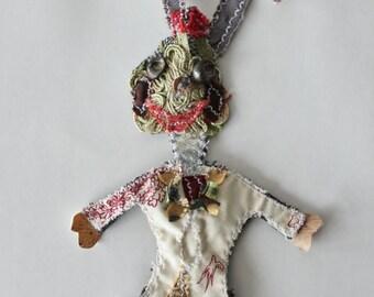 Ooak Unique Bunny Designer Brooch