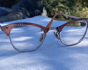 Vintage Cat Eye Glasses 1/10 12K Gold Filled Mid Century Mad Men