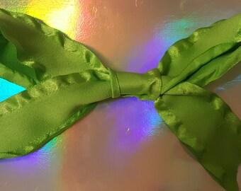 Green Simple Hair Bow