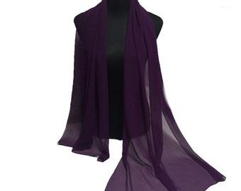 Purple-Sheer-Georgette-Chiffon-Shawl-Formal-Evening -Casual-Pashmina-Scarf-Shawl-Wrap-Weddings-Brides-Giftswedding-bridal-bride