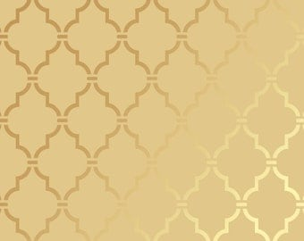 Reusable Wall Stencil Moroccan Allover Pattern.  Available In 10 or 14 Mil Mylar at no extra charge.  SKU: S0107