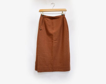 1940's Peck & Peck NY brown wool pencil skirt