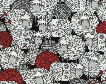 Sheep and Yarn fabric by Timeless Treasures