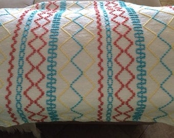 Swedish Weave Teal Breeze Beachy Afghan Couch Throw