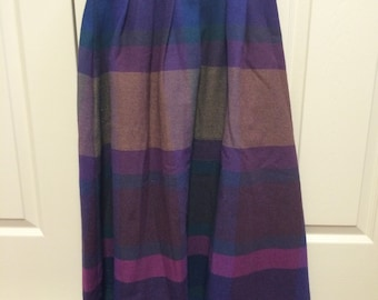 Jewel Tone Wool Skirt by Cheryl Tiegs, size 10